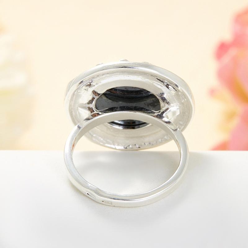 Кольцо гематит Бразилия (серебро 925 пр.) размер 23,5