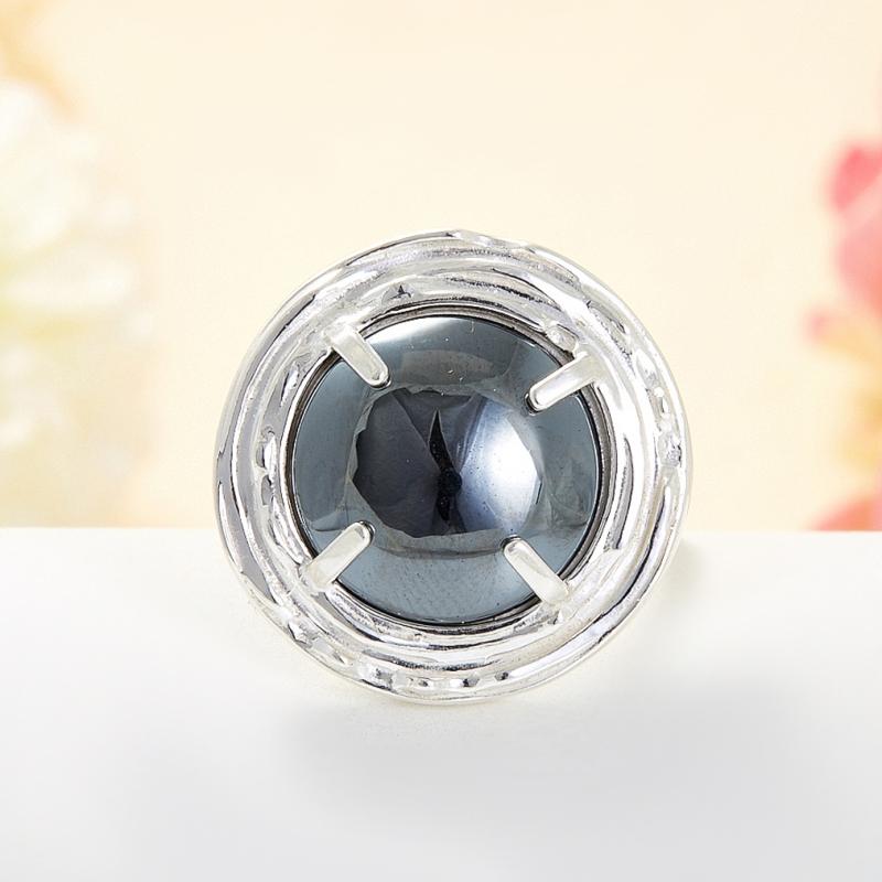 Кольцо гематит Бразилия (серебро 925 пр.) размер 24,5