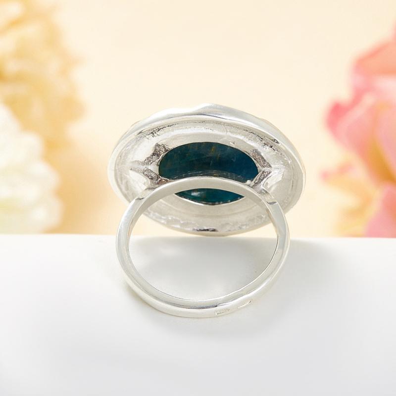 Кольцо апатит Бразилия (серебро 925 пр.) размер 19