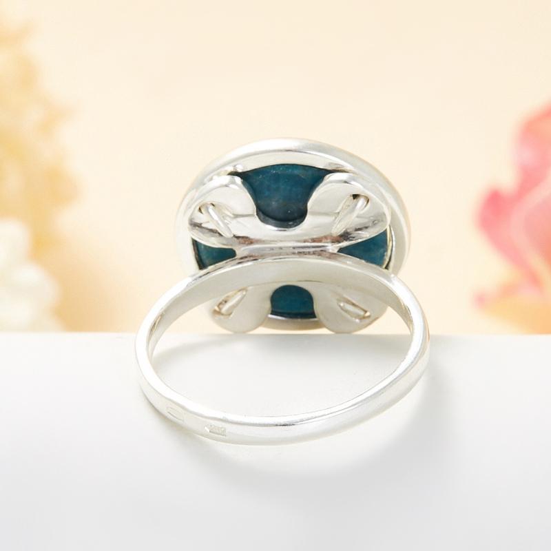 Кольцо апатит синий Бразилия (серебро 925 пр.) размер 21,5