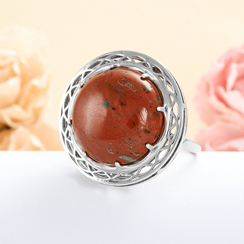 Кольцо яшма брекчиевая  (серебро 925 пр.) размер 19,5