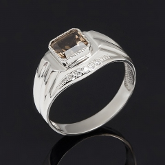 Кольцо раухтопаз Бразилия огранка (серебро 925 пр.) размер 20,5