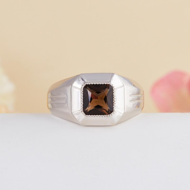 Кольцо раухтопаз  огранка (серебро 925 пр.) размер 20,5