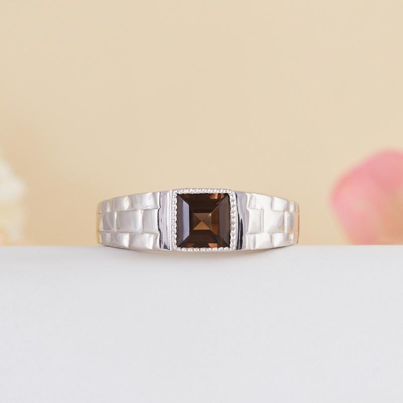 Кольцо раухтопаз  огранка (серебро 925 пр.) размер 18,5 кольцо авантюрин зеленый серебро 925 пр размер 18