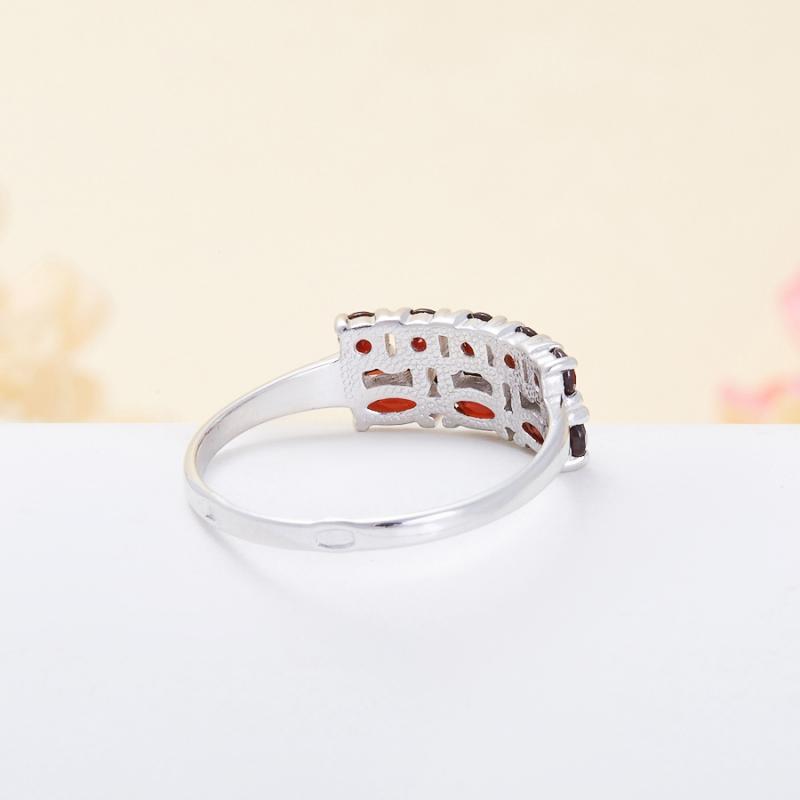 Кольцо гранат альмандин  огранка (серебро 925 пр.) размер 16,5