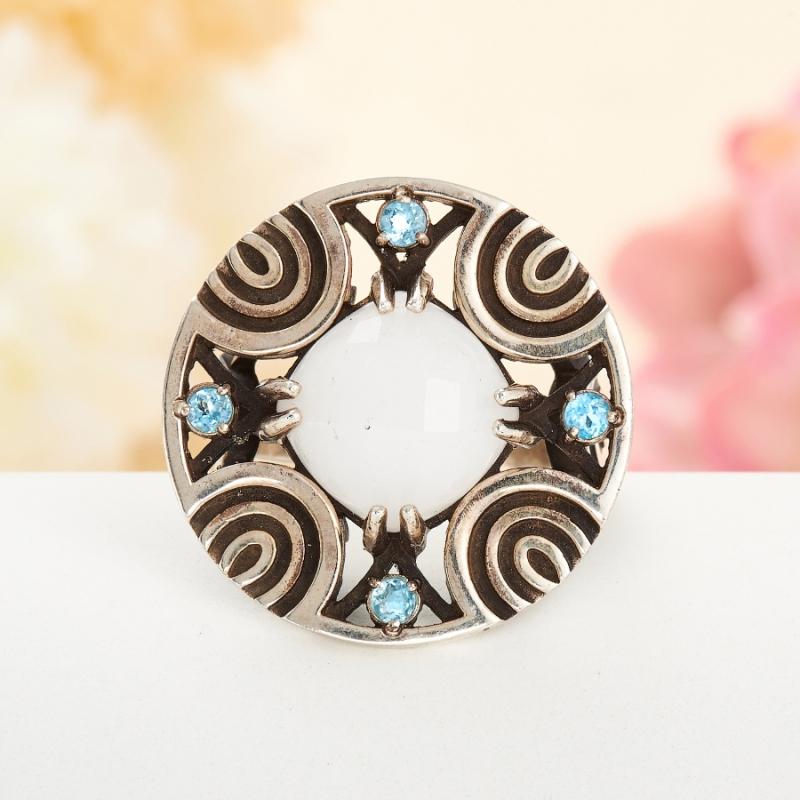 [del] Кольцо кахолонг Казахстан огранка (серебро 925 пр.) размер 16