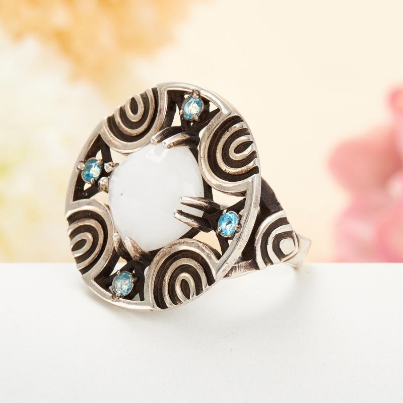 [del] Кольцо кахолонг Казахстан огранка (серебро 925 пр.) размер 17
