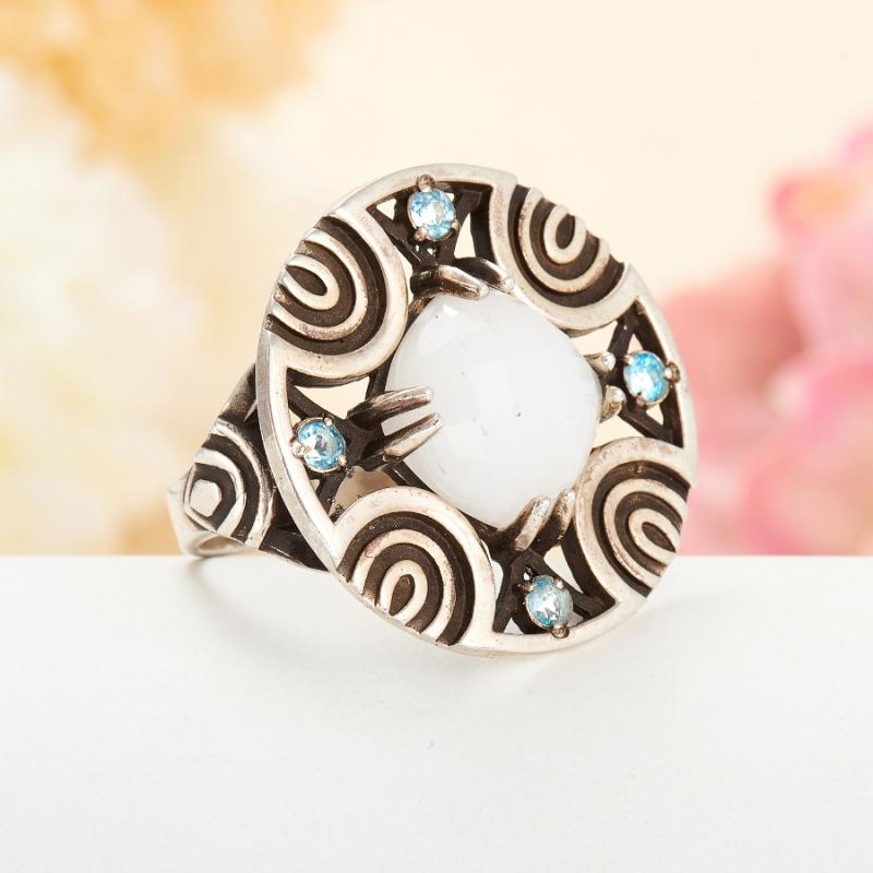 [del] Кольцо кахолонг Казахстан огранка (серебро 925 пр.) размер 25