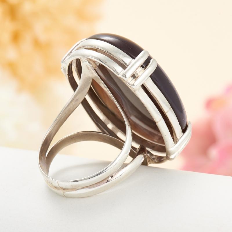 [del] Кольцо агат серый Ботсвана (серебро 925 пр.) размер 20