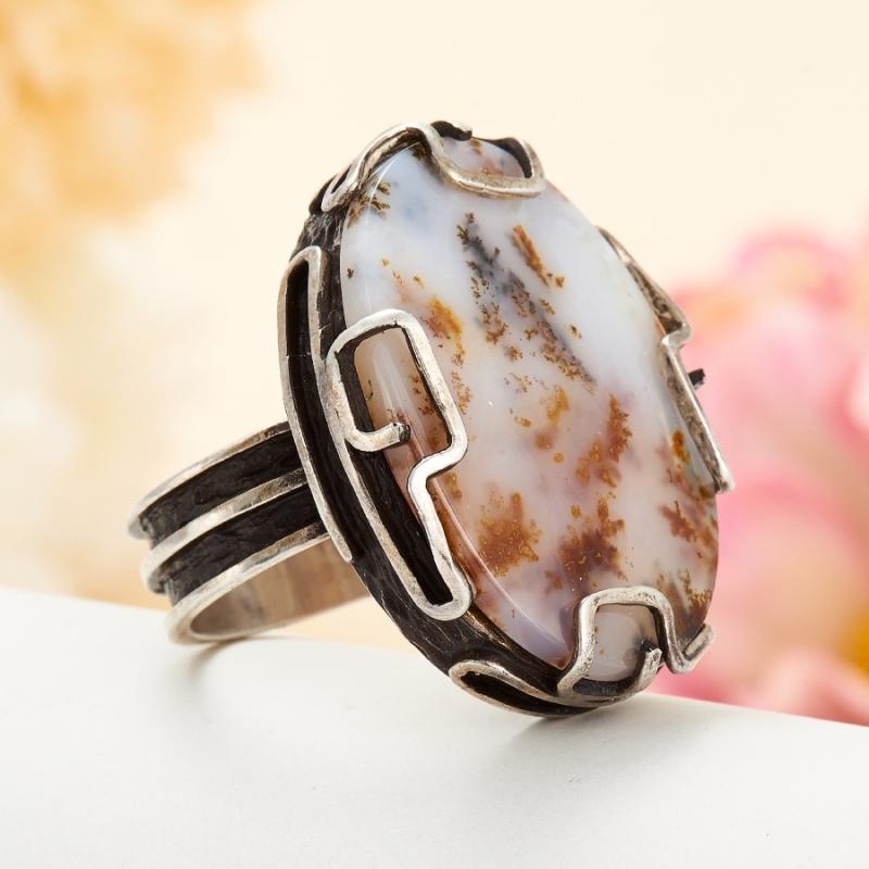 [del] Кольцо агат моховой Казахстан (серебро 925 пр.) размер 14