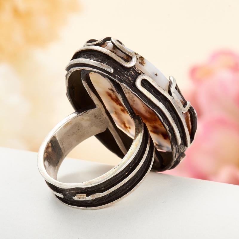 [del] Кольцо агат моховой Казахстан (серебро 925 пр.) размер 24