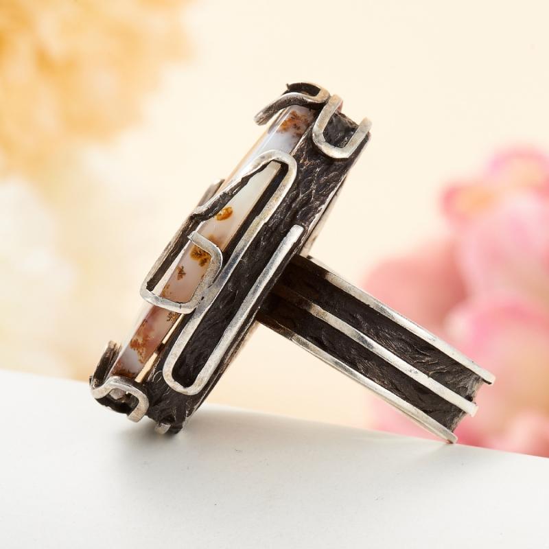 [del] Кольцо агат моховой Казахстан (серебро 925 пр.) размер 25