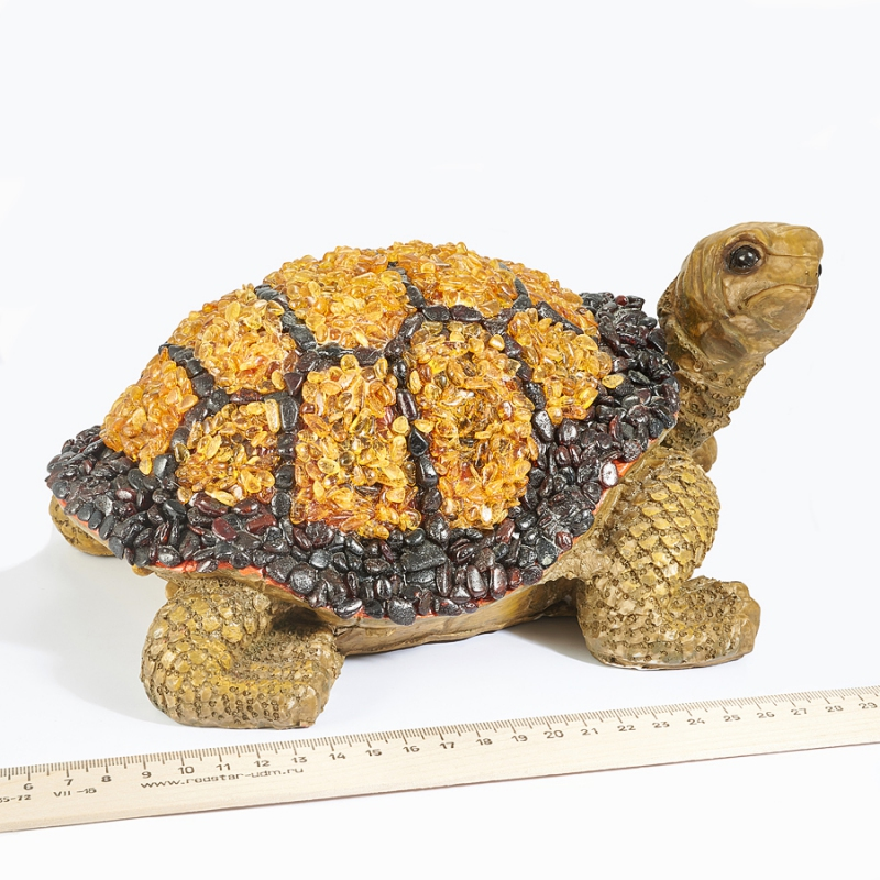 Черепаха янтарь Россия 25х17х10 см