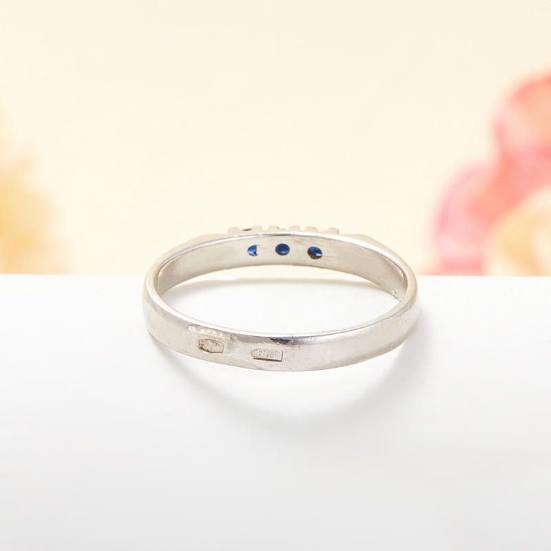 Кольцо сапфир Индия огранка (серебро 925 пр.) размер 14,5