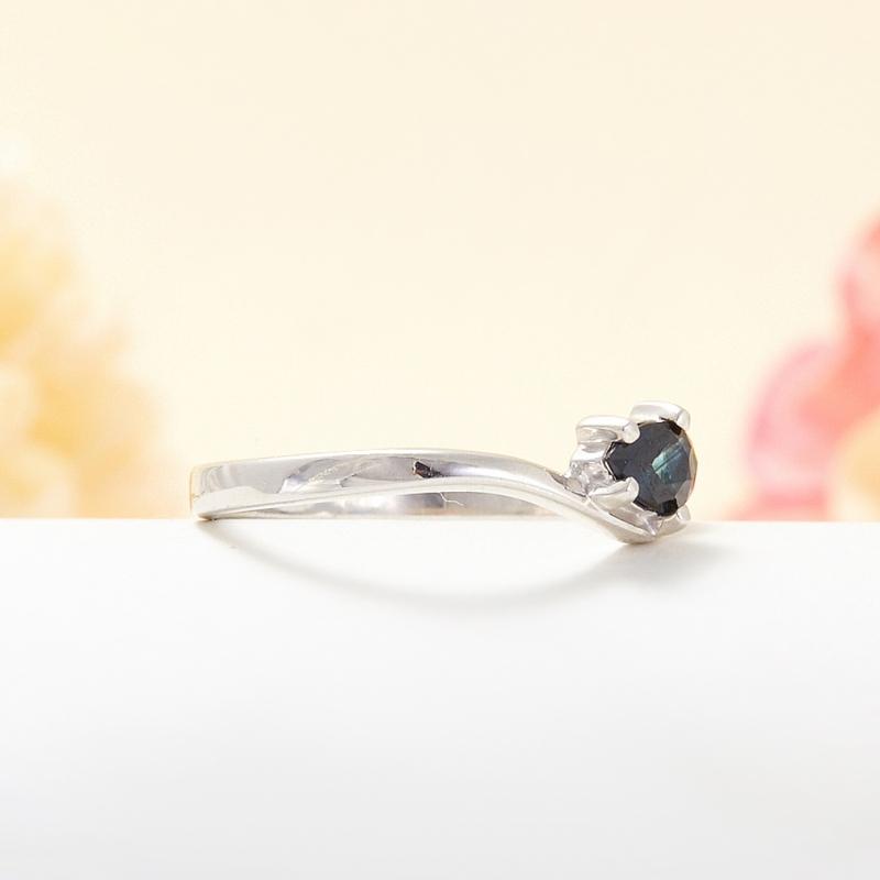 Кольцо сапфир Индия огранка (серебро 925 пр.) размер 16,5