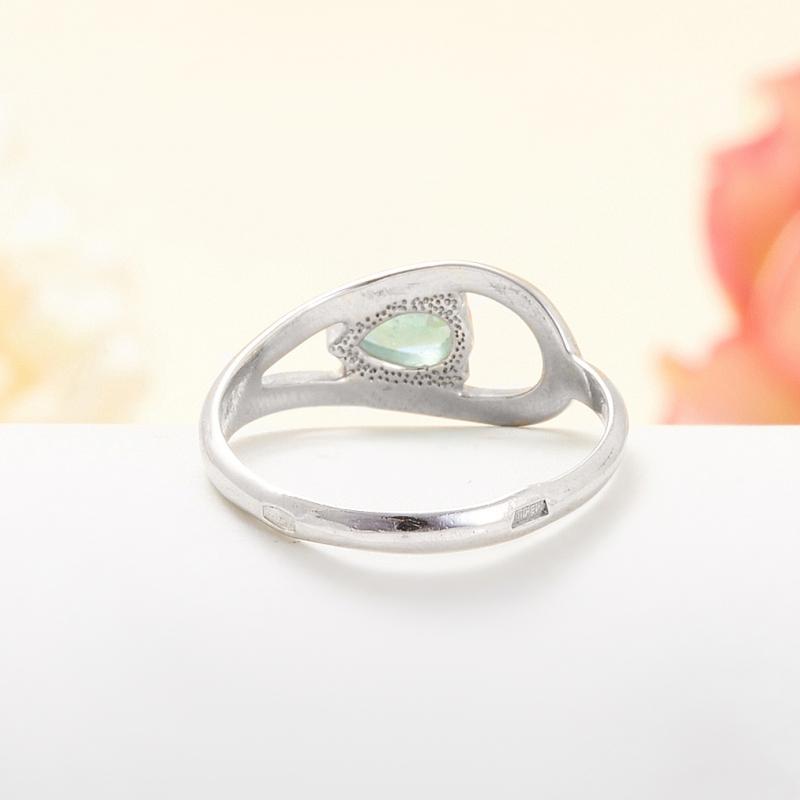 Кольцо изумруд Колумбия огранка (серебро 925 пр.) размер 18,5