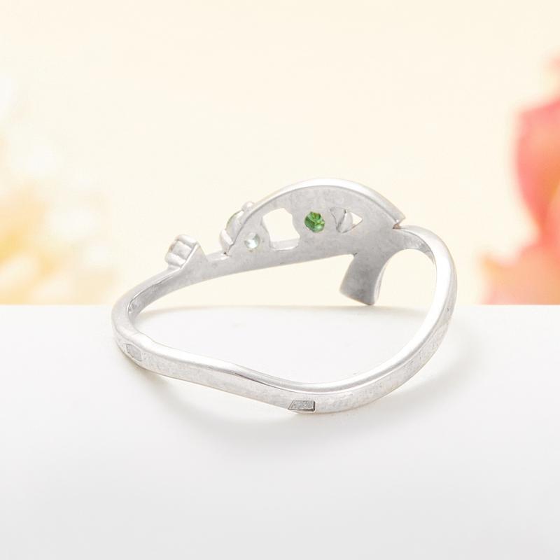 Кольцо изумруд Колумбия огранка (серебро 925 пр.) размер 15,5
