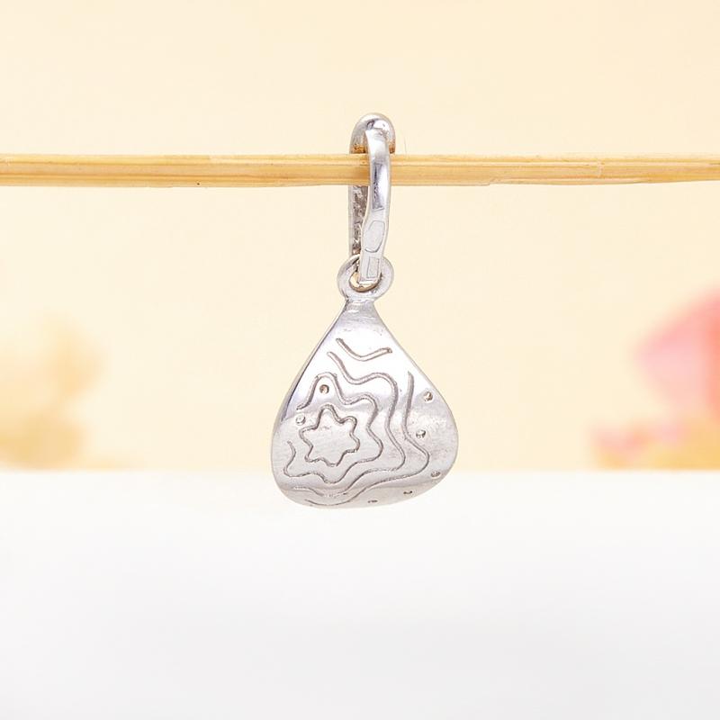 Кулон сапфир Индия огранка (серебро 925 пр.)