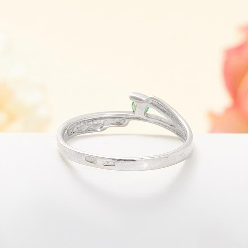 Кольцо изумруд Колумбия огранка (серебро 925 пр.) размер 17,5