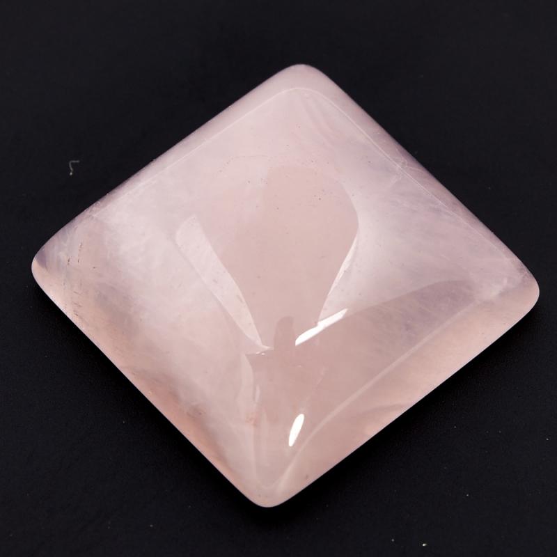Кабошон розовый кварц 15*15 мм