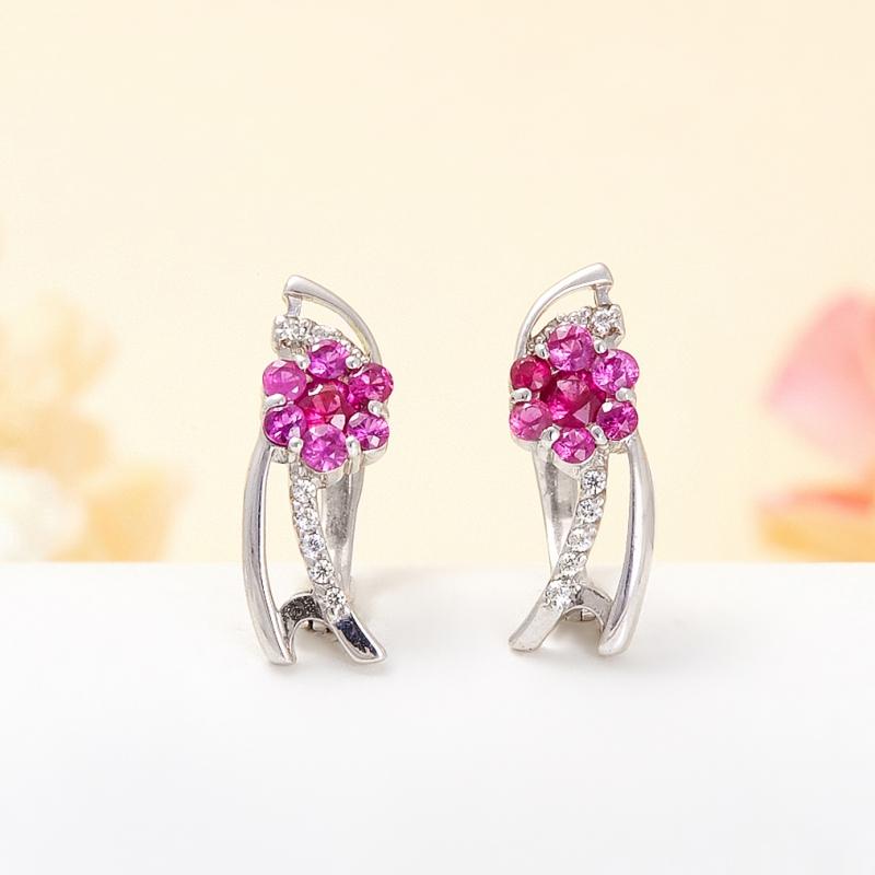 Серьги рубин огранка (серебро 925 пр.) серьги висячие oem 925 925 czkalqra fpuaohba e051 earring