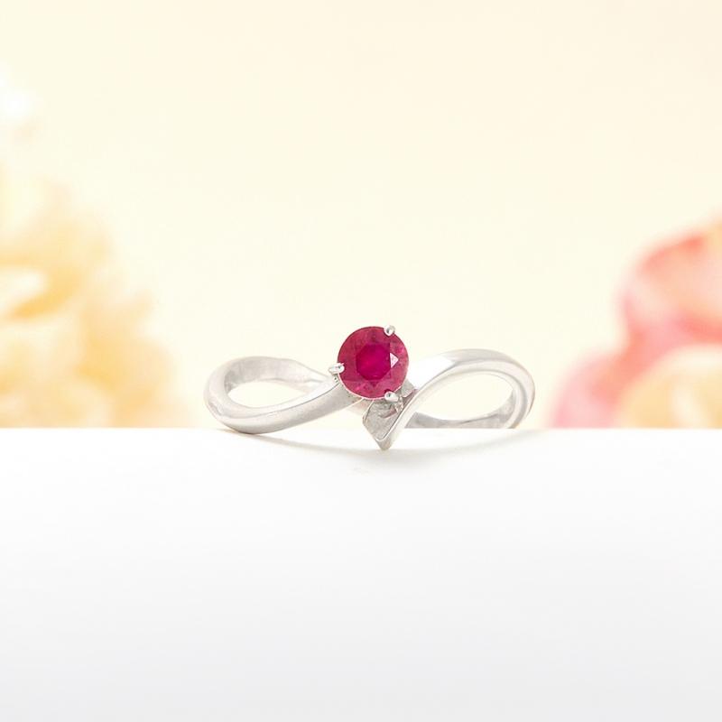 Кольцо рубин  огранка (серебро 925 пр.) размер 16,5