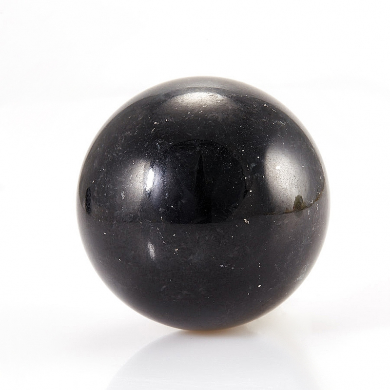 Шар нефрит черный  6-6,5 см бусина авантюрин зеленый сплюснутый шар 6 6 5 мм 1 шт