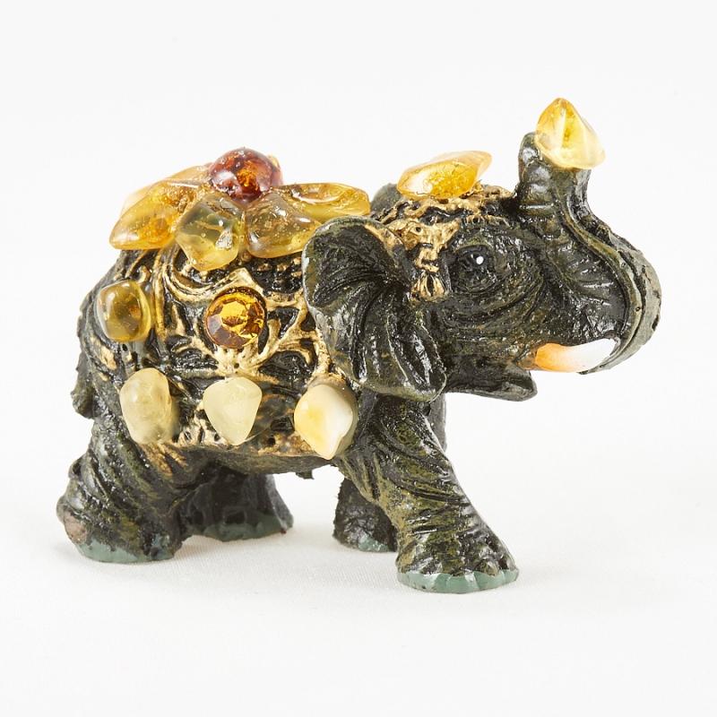 Слон янтарь  5х4х2 см
