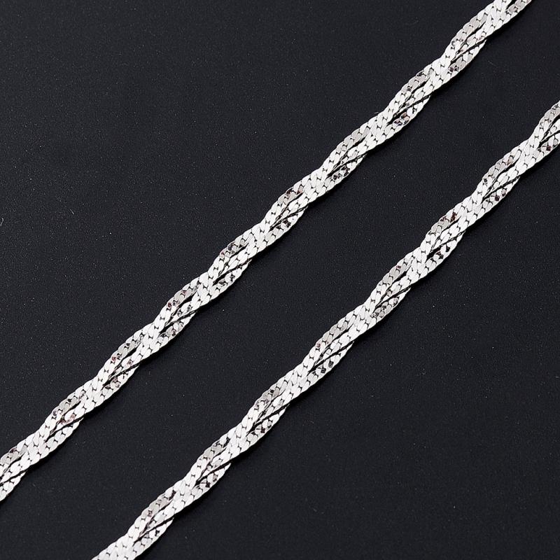 Цепь полновесная косы 50 см  (серебро 925 пр.)