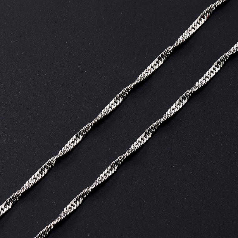 Цепь полновесная сингапур 40 см  (серебро 925 пр.) женская цепь красцветмет золотая цепь ndнц 12 084 d 0 40 40