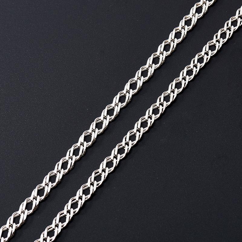 Цепь полновесная двойной ромб 45 см  (серебро 925 пр.)