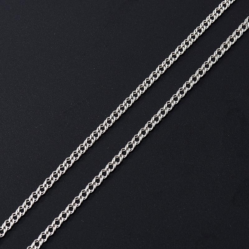 Цепь полновесная двойной ромб 45 см  (серебро 925 пр.) браслет цепь moonlight vsbc267 925