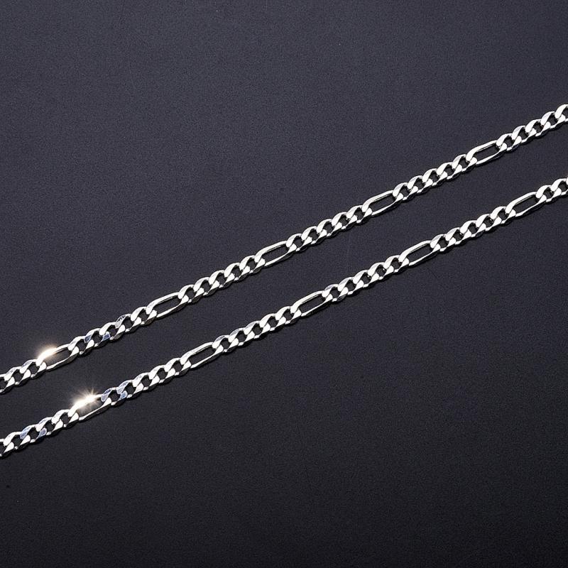 Цепь полновесная фигаро 60 см  (серебро 925 пр.)