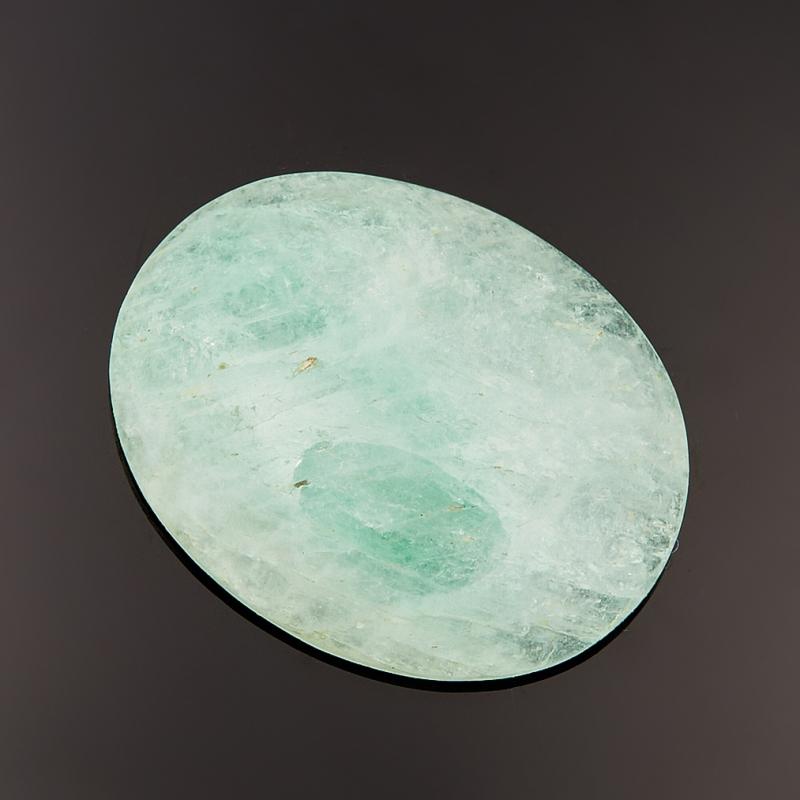 Кабошон аквамарин зеленый с иризацией  5,8х21х26 мм