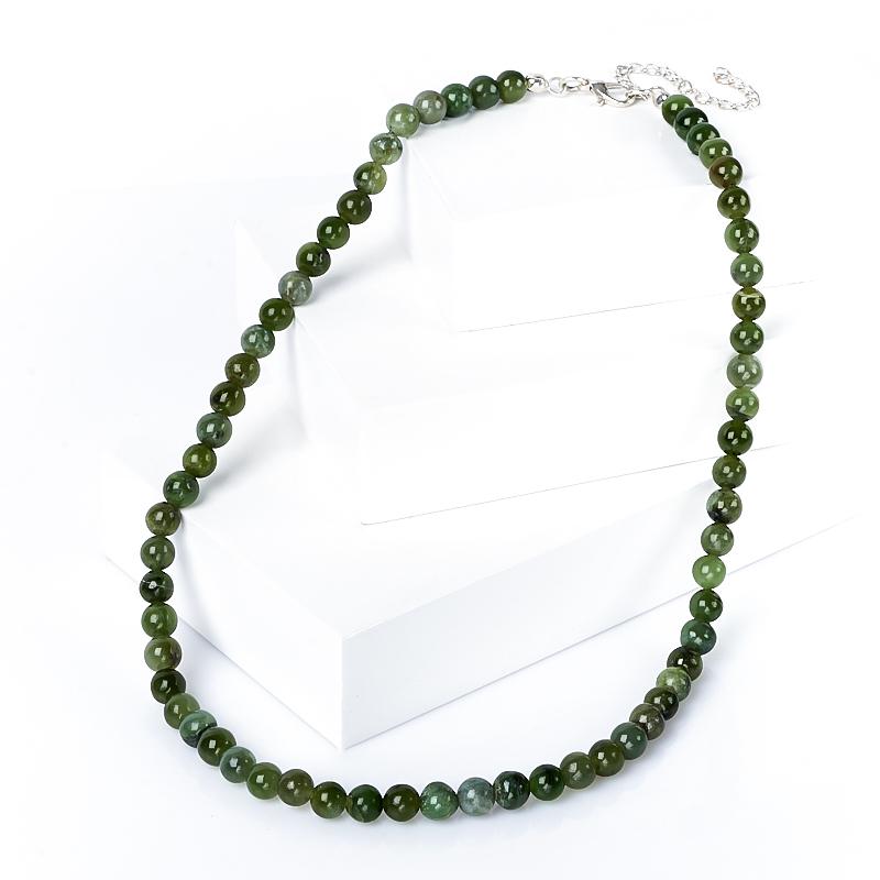 Бусы нефрит зеленый 6 мм 44-52 см бусы migura цвет зеленый y8021