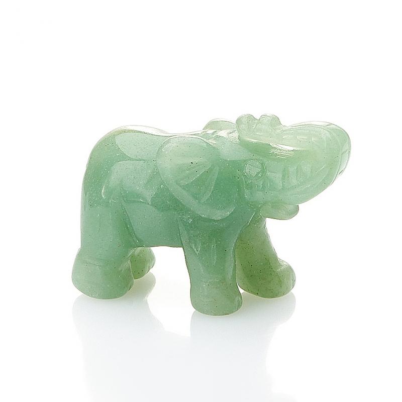 Слон авантюрин зеленый  3 см