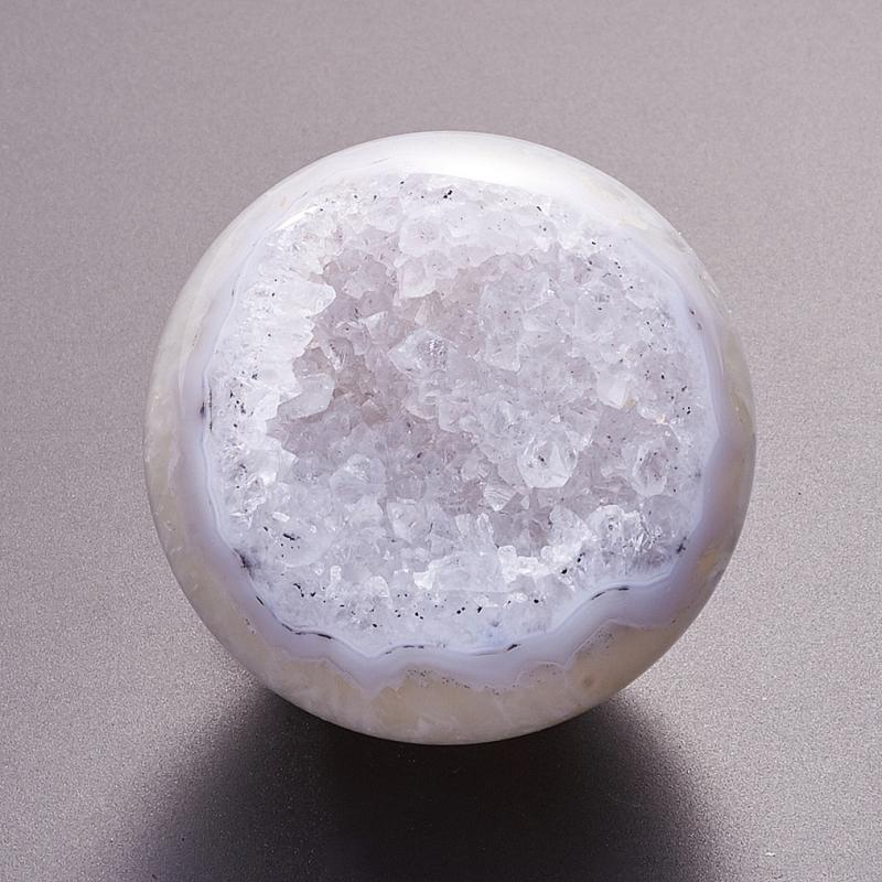 Уникальный шар-жеода агат серый  4,5 см