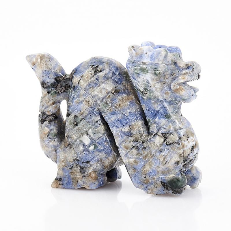 Дракон содалит 7,5 см содалит брелок с натуральным камнем 5х10см