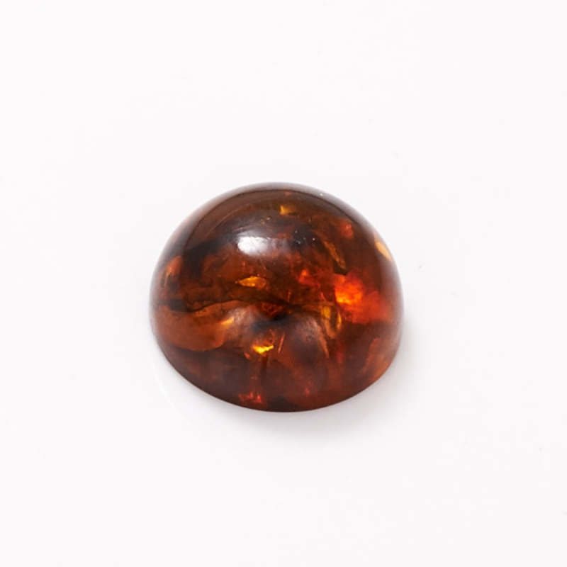 Кабошон янтарь  15 мм