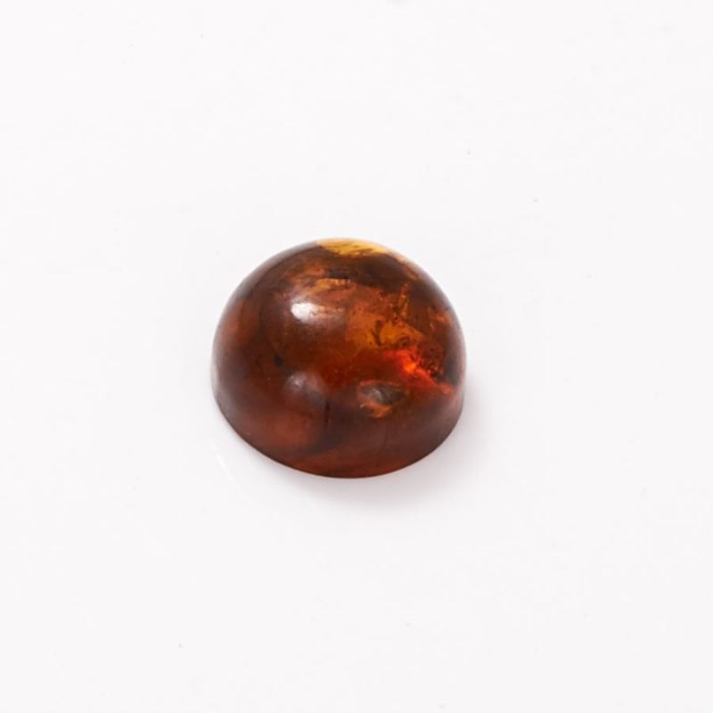 Кабошон янтарь  12 мм