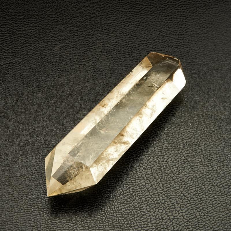 Двухголовый кристалл цитрина Бразилия 79х22х19 мм (ограненный)