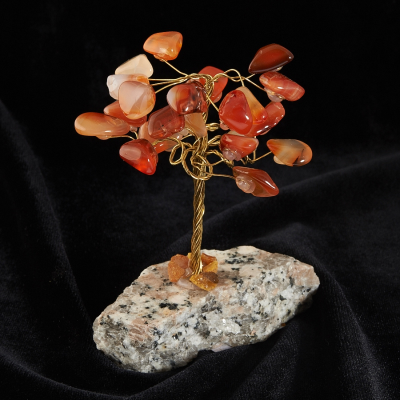 Дерево счастья сердолик 10 см