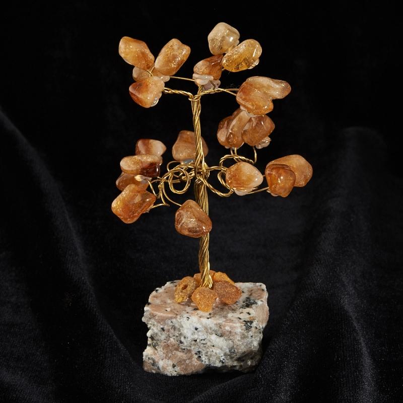 Дерево счастья цитрин 10 см