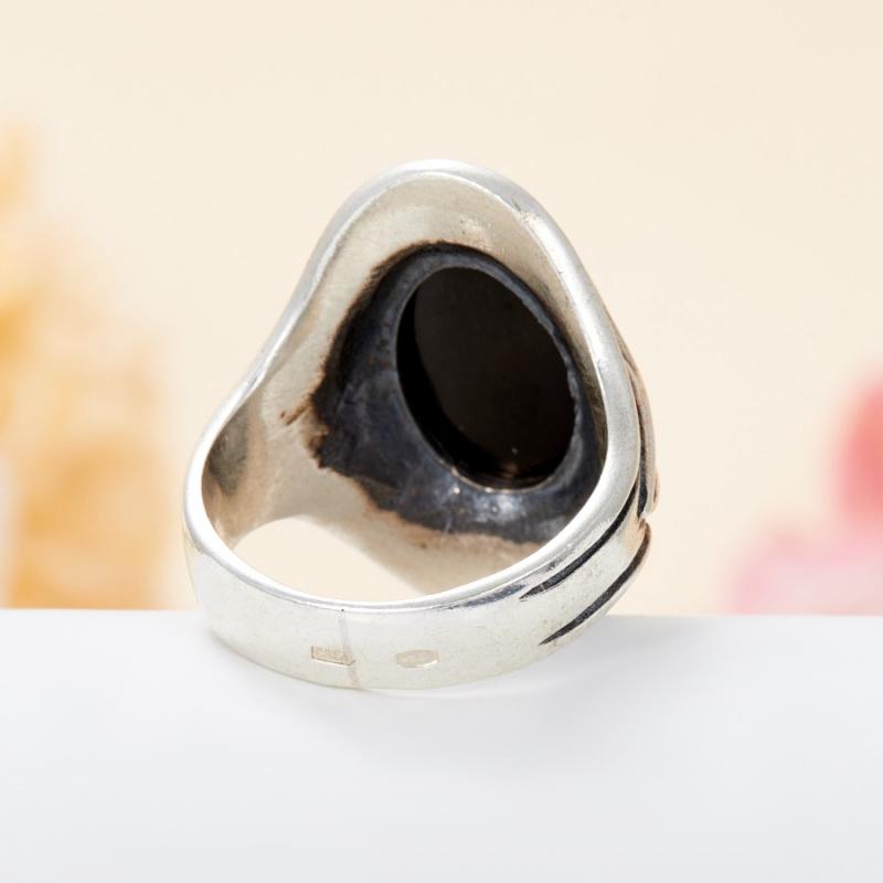 [del] Кольцо диопсид звездчатый Индия (серебро 925 пр.) размер 21,5