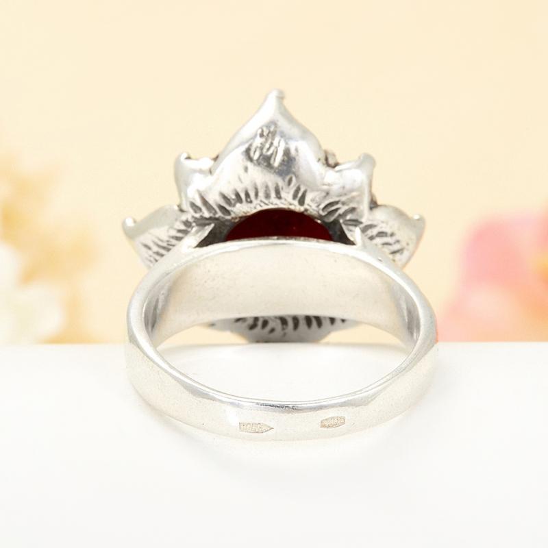 [del] Кольцо гранат альмандин Бразилия (серебро 925 пр.) размер 15