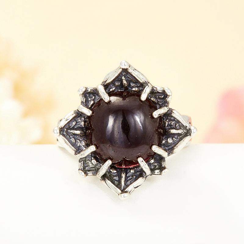 [del] Кольцо гранат альмандин Бразилия (серебро 925 пр.) размер 18