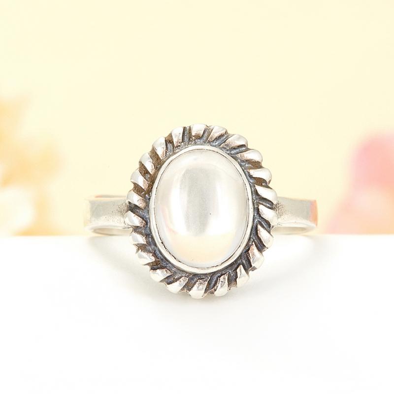 [del] Кольцо горный хрусталь Бразилия (серебро 925 пр.) размер 15