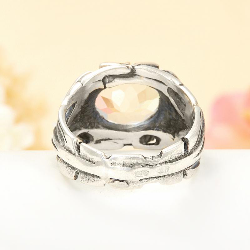 [del] Кольцо горный хрусталь Бразилия (серебро 925 пр.) размер 17