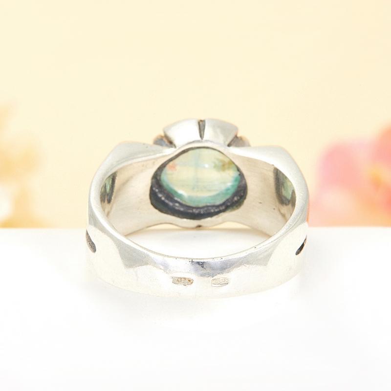 [del] Кольцо аквамарин Россия (серебро 925 пр.) размер 19