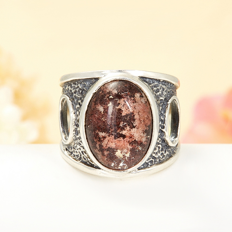 [del] Кольцо кварц Бразилия (серебро 925 пр.) размер 14,5